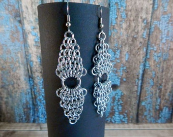 European 4-in-1 Diamond Chainmaille Earrings
