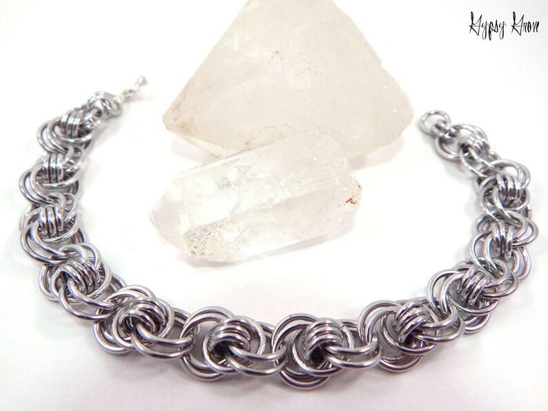 Ocean Waves Chainmaille Bracelet image 0