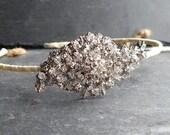 Diamanté side tiara, rhinestone headress, bridal hair accessory, vintage glamour, wedding or prom uk