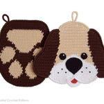 2 Crochet Patterns - Dog and paw Decor or potholders - Amigurumi Crochet Pattern - PDF file by Zabelina Etsy