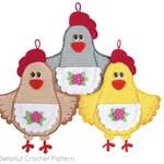 067 Crochet Pattern - Lady Chicken decor or potholder - Amigurumi PDF file by Zabelina Etsy