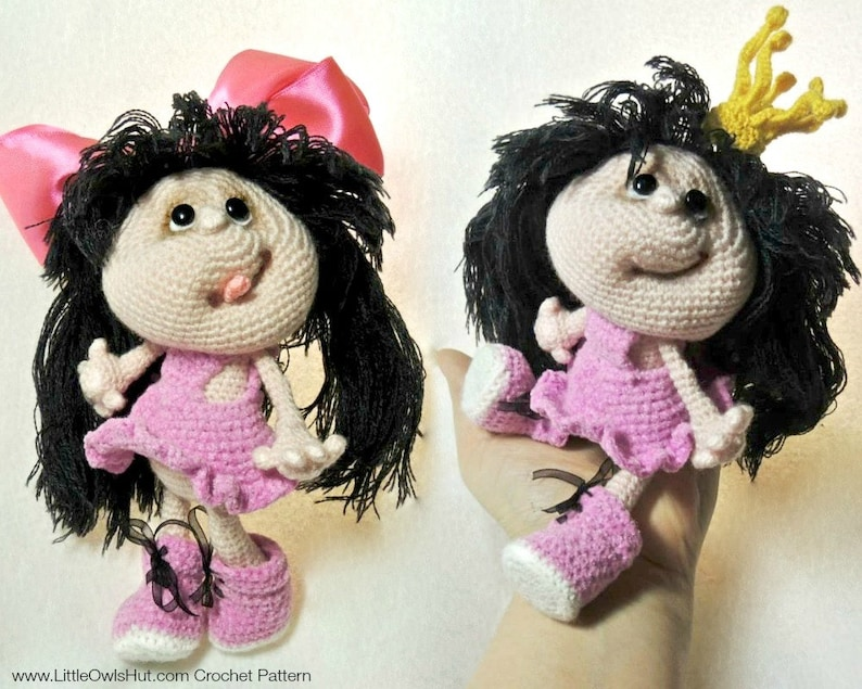 041 Crochet Pattern Princess Doll.  Amigurumi Toy  PDF file image 1
