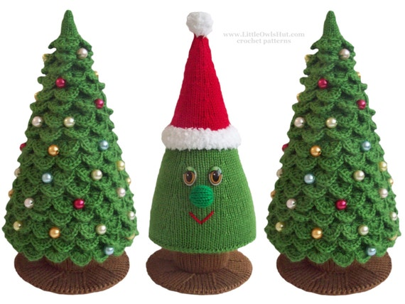009 Knitting Branches Are Crochet Pattern Christmas Tree Etsy