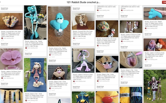 121 Crochet Pattern Rabbit Dude Keks Amigurumi Soft Toy Etsy
