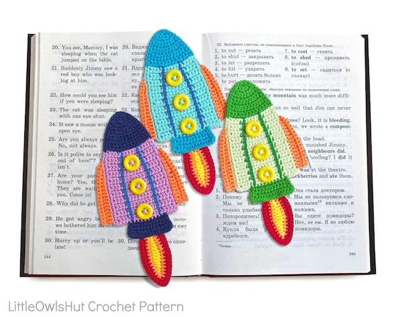 f9fa1682b 074 Rocket Bookmark or decor Amigurumi Crochet Pattern PDF