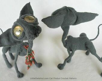 095 Cat Sphynx Findus with wire frame - Amigurumi Crochet Pattern PDF file by Pertseva Etsy
