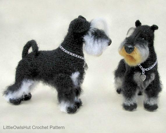 101 Miniature Schnauzer dog with wire frame Amigurumi | Etsy