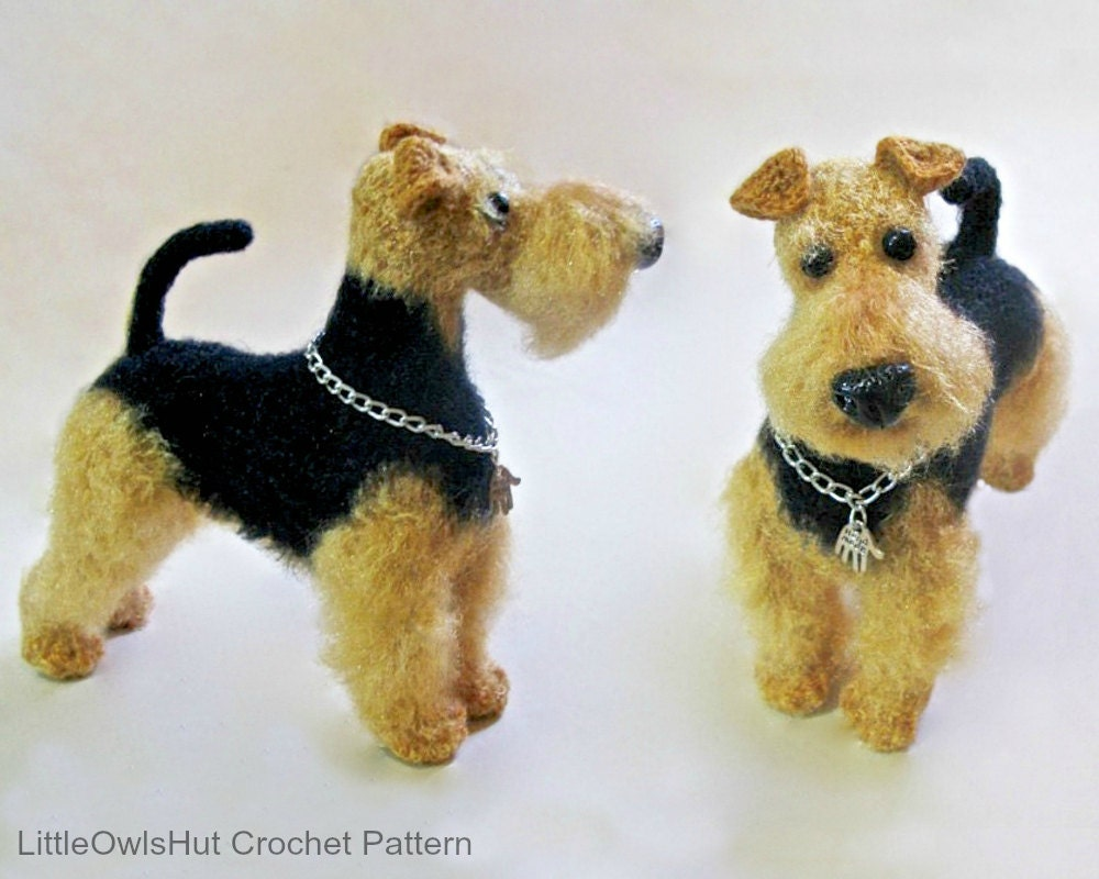 102 Welsh Terrier dog with wire frame Amigurumi Crochet