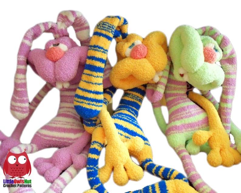 121 Crochet Pattern  Rabbit Dude Keks  Amigurumi soft toy image 0