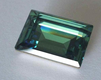 1 SWAROVSKI 4527 Rectangle Step Crystal Fancy Stone 18mm ERINITE