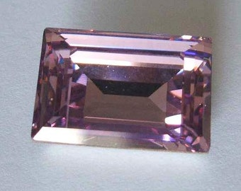 1 SWAROVSKI 4527 Rectangle Step Crystal Fancy Stone 18mm LIGHT AMETHYST