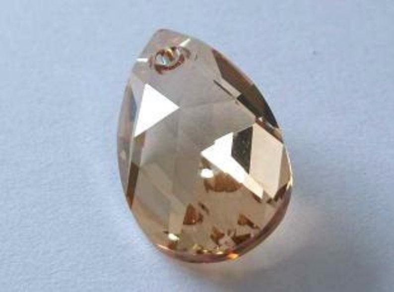 81e676513 SWAROVSKI 6106 Pear Teardrop Pendant Crystal Bead GOLDEN | Etsy