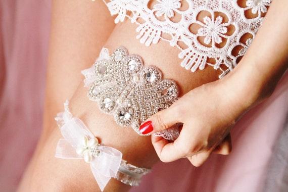 Bridal Set Pearl Belt Garter Garter Art Set Rhinestone Luxury Lace Garter Vintage Crystal Wedding Inspired Deco Garter 5TwaaX
