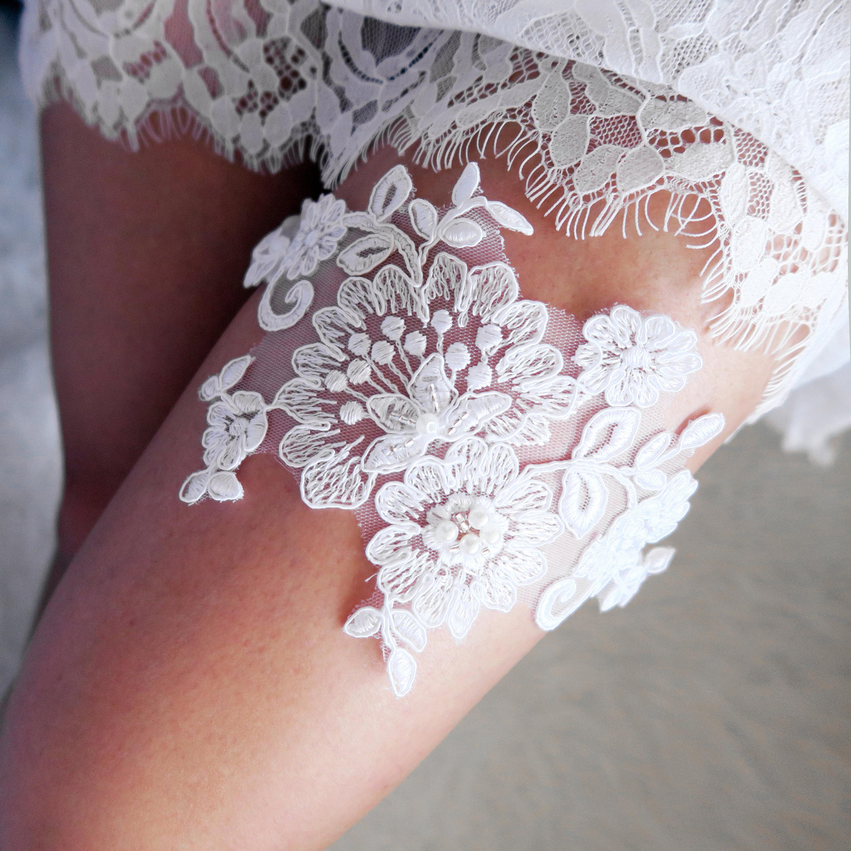 What Is A Wedding Garter: Bridal Garter Wedding Garter Belt Beaded Ivory Garter Lace