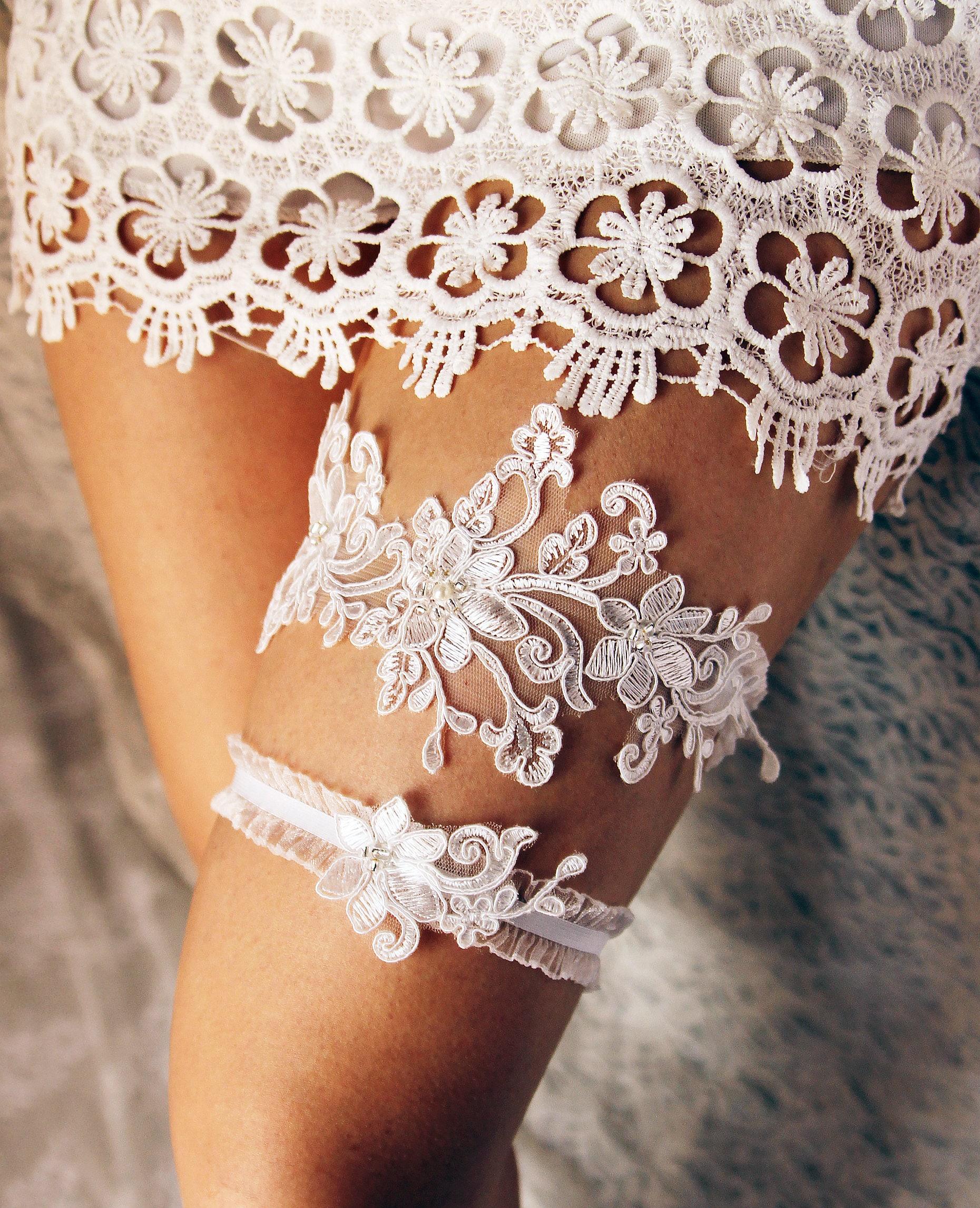 Personalized Wedding Garter Sets: Wedding Garter Lace Garter Set Bridal Garter Belt Rustic