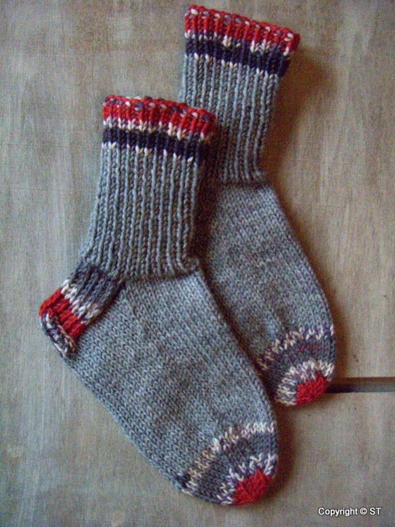 Wool socks Robin Boys Girls kids Handknitted boot wool  c7648e26fb83