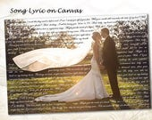 Personalized Wall Art Canvas with Song Lyrics