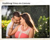 24x36 Personalized Wall Art Canvas Wedding Vows