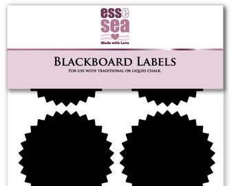50mm X 38mm Kitchen, Dining & Bar 10 Medium Blackboard Labels Chalkboard Stickers Home & Garden