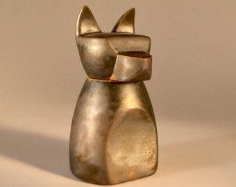 Small Anubis Dog Urn-  Rhodium