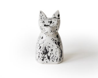 Small Anubis Dog Urn- Ink Spots
