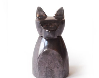Small Anubis Dog Urn- Black Copper