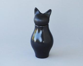 Basst Cat Urn in Matte Black- SECOND QUALITY