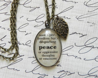 PEACE Definition Necklace