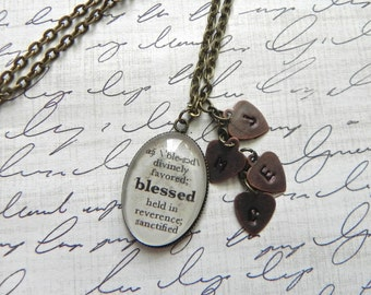 BLESSED Definition Necklace