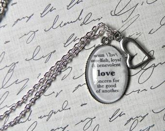 LOVE Definition Necklace