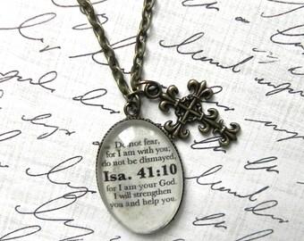 Isaiah 41:10 Bible Verse Necklace