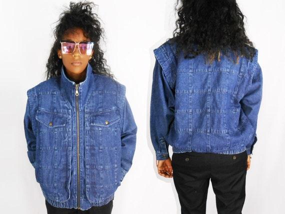 Jean Jean chaqueta chaqueta los Acolchada chaqueta Etsy mujer xgnHqq4f