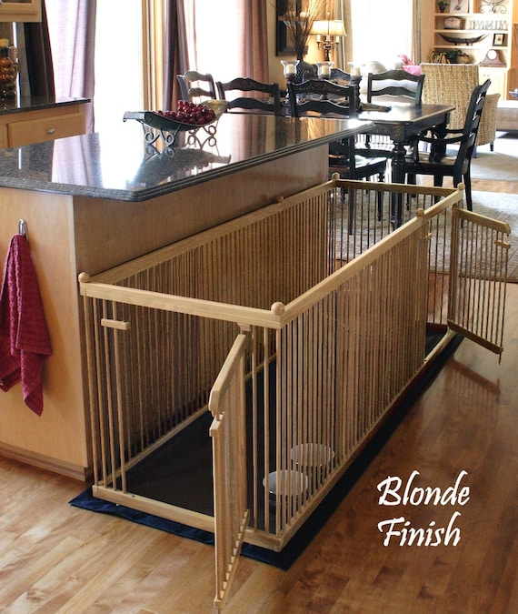 2 X6 Solid Maple Extended Length Indoor Dog Kennel Etsy