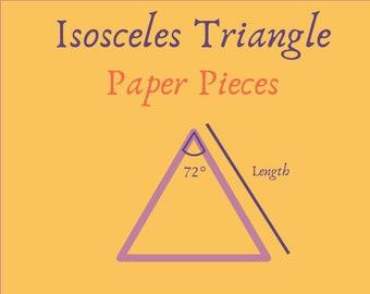 Triangle Isosceles 72 degree A4 Stencil 225gsm Kraft Card Mixed Media Art Journal