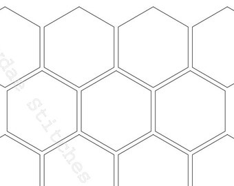 photo about Printable Hexagon Template known as Hexagon templates Etsy
