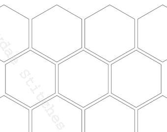 picture regarding Printable Hexagon Template called Hexagon templates Etsy