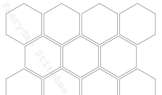 Sechseck Vorlagen PDF in 12 Größen | Etsy