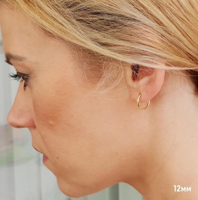 5b58f31f5 Small Gold Huggie Earrings. Small Hoops Earrings for | Etsy