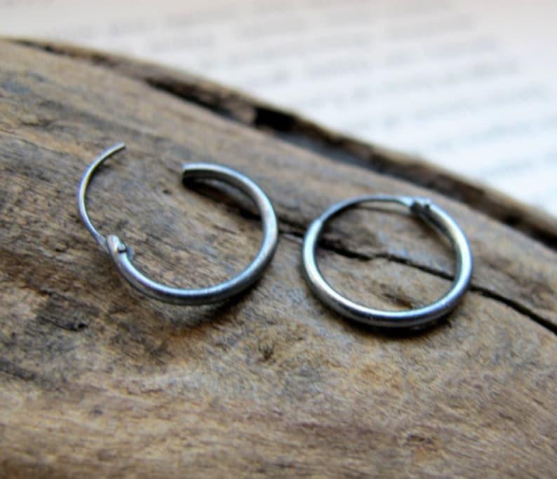 Mens Earring Single Sword Earring for Men Black Sterling Silver Earring for Him Weapon jewelry Mens Jewelry Mens charm earring