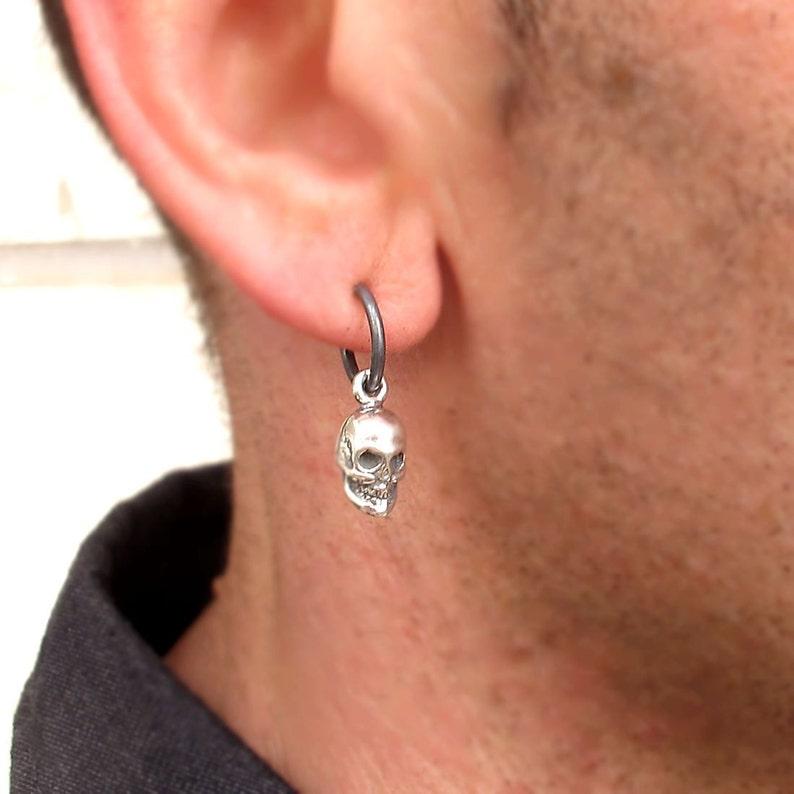 Mens Earring  Skull Earring for Men  Mens Jewelry  Punk image 0