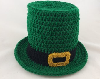 Baby Leprechaun - St Patricks Day Baby - Baby Top Hat - Leprechaun Hat -  Green Top Hat - Photography Props - Green Top Hat - Baby Gift 9c7585c66f5