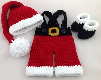 1f8a4ad7460a Baby Santa Outfit - Christmas Baby Outfit - Newborn Santa Outfit - Baby  First Christmas - Kids Christmas Outfit - Baby Girl - Baby Boy