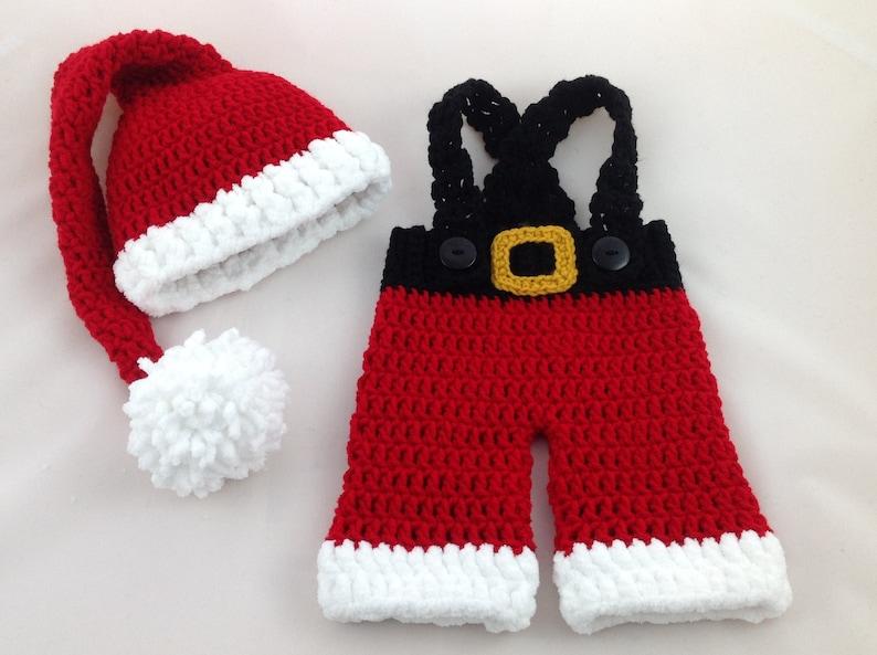 4c4456df51a0 Baby Santa Outfit Crochet Santa Suit Newborn Santa Outfit | Etsy