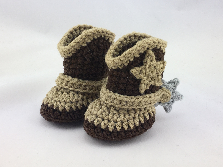 Baby Cowboy Boots Wspurs Newborn Cowboy Boots Crochet Etsy