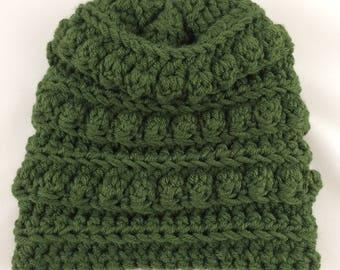 Bobble Hat - Bobble Toboggan - Womens Winter Hat - Toboggan Hat - Winter Fashion Hat - Bobble Beanie - Womens Hats - Crochet Winter Hat
