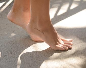 Dainty Foot Tattoo, Custom Name Tattoo by Pasadya
