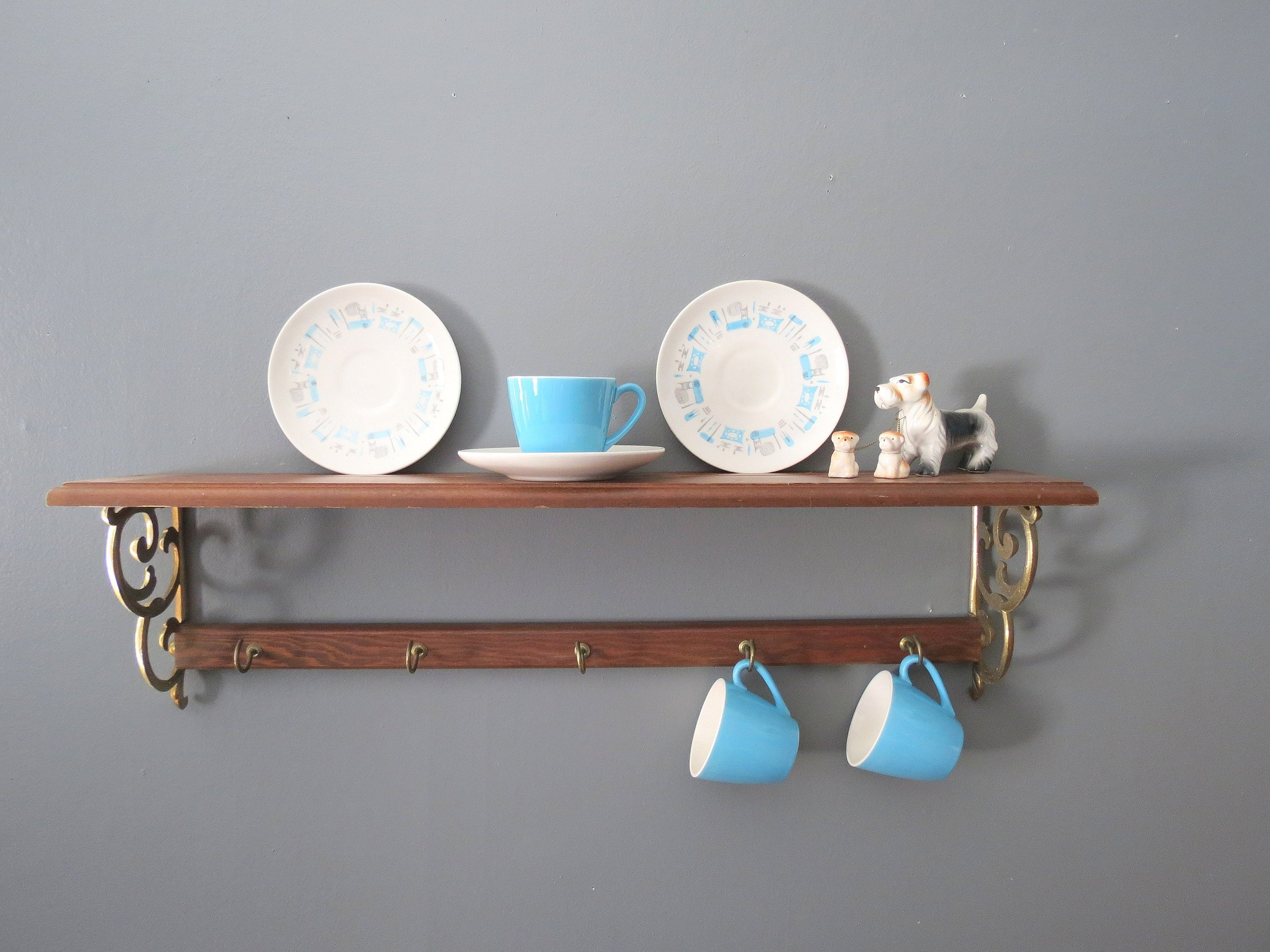 Vintage Farmhouse Style Round Plate Display Dish Rack Home Furniture Diy Kitchen Racks Holders Redhot Cl