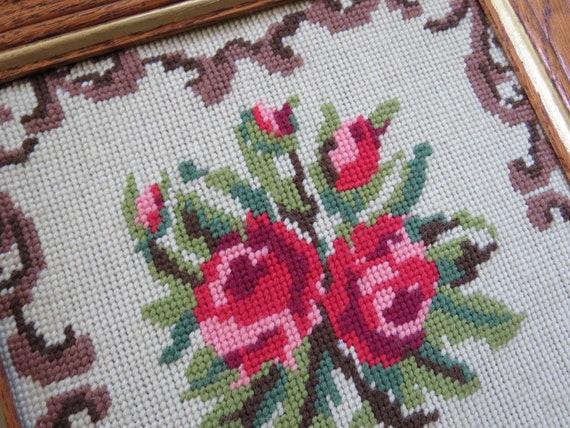 Bonarty Estamp/é /& Compt/é Kit Point De Croix Vintage Style Rose Bricolage Needlepoint Crafts 59 x 44 cm