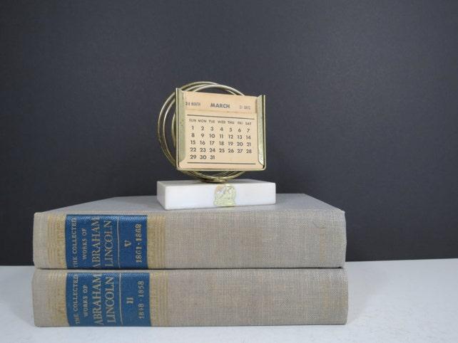 image 0 - Antique Perpetual Desk Calendar // Vintage New Diamond Genuine Etsy