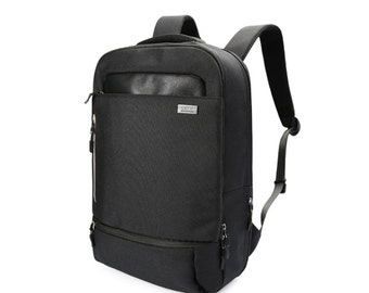Simple Air mesh cushion Backpack with waterproof cover  (Black)